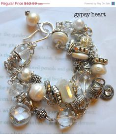 ON SALE chunky bracelet  wire wrapped bracelet by soulfuledges