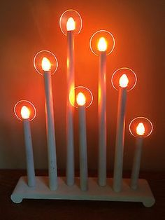 vtg 7 ge bulb christmas noma mazda halo candolier window candle lights box 11