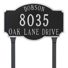 Montague Metal Products Two Line Address Plaque Finish: Gray/White