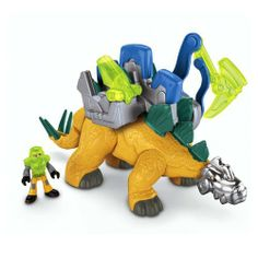 "Fisher-Price Imaginext Stegosaurus Dino by Fisher-Price. $21.19. Collect all the Imaginext Dino's. Create an imaginary world full of dinosaurs. Imaginext's dinosaur toys turn imaginary play into a ""roarin"" good time. Fun for all boys. Have a new adventure every time with exciting dino play. From the Manufacturer                This Stegosaurus is ready for whatever action kids can imagine! Figure fits inside the cockpit to 'control' the dino. The moveable knob..."