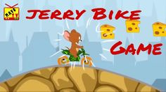 Jerry riding a bike and collecting cheese game by MavoTV