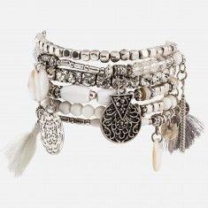 Ensemble bracelets élastiques breloques antiques Belt, Accessories, Jewelry, Fashion, Bangle Set, Stretch Bracelets, Jewels, Belts, Jewlery