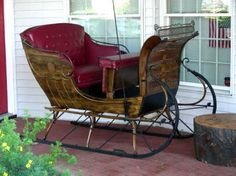 Restored Portland Cutter Sleigh Horse drawn carriage