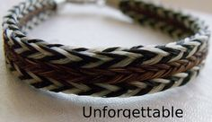 HITCHIN HORSE HAIR | Beautiful Flat -Braided Horsehair Bracelet Bright colors | Knot-A-Tail ...