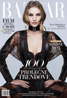 Rosie Huntington-Whiteley for Harper's Bazaar Serbia March 2015