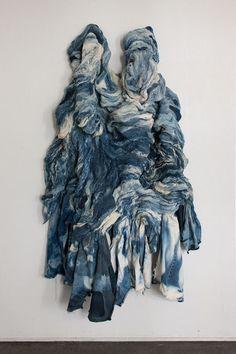 Textile Artist Chung Im Kim Silk Screens Patterns Onto