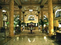 The Willard Hotel lobby in Washington DC.
