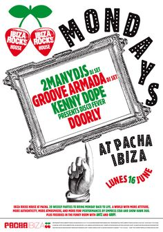 Poster for Ibiza Rocks House at Pacha