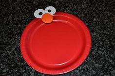 Elmo birthday party plates or cake plates