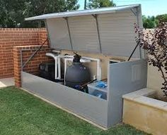 Image result for pool pump shed