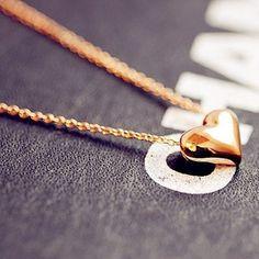 Sunshine loja de jóias vintage populer coração de ouro colar x203( ordem mínima é de $10 ordem misturada)...