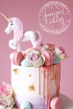 Pretty Pastel Unicorn Cake for a Sophisticatedly Fun Birthday! Pretty pastel cake by Juniper C Pastel Cakes, Girly Cakes, Cute Cakes, Raspberry Smoothie, Apple Smoothies, Cupcake Party, Cupcake Cakes, Drippy Cakes, Milkshake Flavours