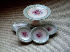 miniature cake stand and plates