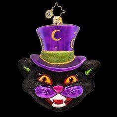 RADKO HOWL AT THE MOON Black Cat Halloween Glass Ornament Radko http://www.amazon.com/dp/B00KGL0U1M/ref=cm_sw_r_pi_dp_5TUaub13F604N