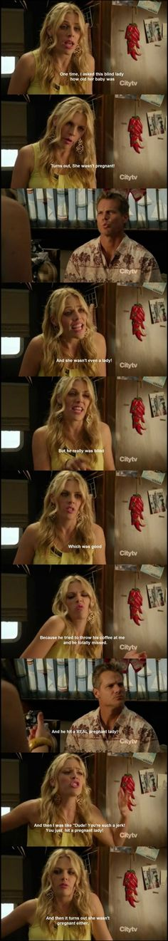 Some of the things I laugh at the hardest are Laurie's random stories on Cougar Town.