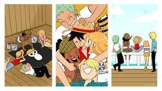 One Piece Meme, One Piece Fanart, Zoro, Manga Anime One Piece, One Piece Images, Monkey D Luffy, Cute Family, Art Blog, Cute Art