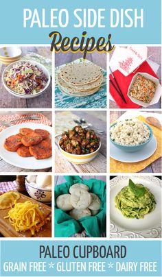 Paleo Side Dish Recipes! Gluten Free, Grain Free, Dairy Free --> www.PaleoCupboard.com