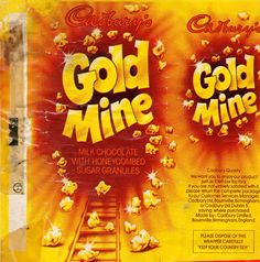 THE DELIGHTFUL CADBURYS GOLD MINE BAR FROM THE LATE 70S