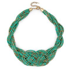Women's Turquoise Beads Braided Beaded Necklace by Sole Society Jewelry Accessories, Fashion Accessories, Jewelry Design, Fashion Jewelry, Women Jewelry, Beaded Jewelry, Jewelry Box, Jewlery, Choker