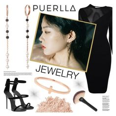 """PUERLLA"" by gaby-mil ❤ liked on Polyvore featuring Versace, La Mer, ring, jewelry, earrings and puerlla"