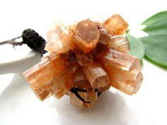 Aragonite Necklace, Aragonite star cluster pendant,  Aragonite Crystal,  Macrame, Healing Stones and crystals, Funky,  hippy