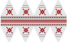 Chart for knit Christmas ball