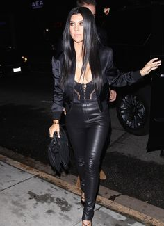 """daiilycelebs: """" 11/2/15 - Kourtney Kardardashian arriving to Kendall Jenner's 20th Birthday Party in West Hollywood. """""""