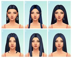 hi I just wanted to know if you have any good straight middle-parted hairs, im looking for 2002 Avril Lavigne type hairs! thanks hey! Sims 3, Sims Four, Sims 4 Mm Cc, Maxis, Los Sims 4 Mods, Sims 4 Game Mods, Middle Part Hairstyles, Pelo Sims, The Sims 4 Cabelos
