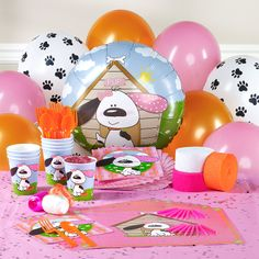 Playful Puppy Pink Personalized Party Theme, 81385 Leighton's 2nd birthday! She loves puppies.