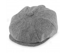 4c2b06a0a63cb4 Broner Saltie Coal - Linen/Cotton Chambray Newsboy Driving Cap, Newsboy Cap,  Flat