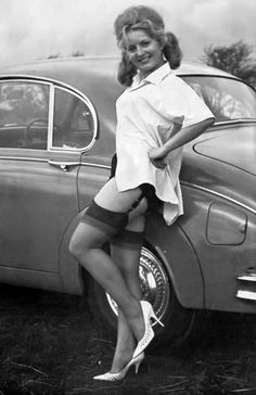 vintage fetish upskirt stockings nylons cars