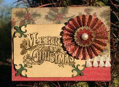 Tim Holtz Christmas Cards | Christmas Card ala Tim Holtz - Two Peas in a ... | Cards - Christmas ...