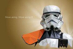 Stormtrooper - Polygonal Star Wars Portraits by Vladan Filipovic
