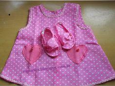 Nini Artes: Moldes de Vestidinho de Bebê Grátis