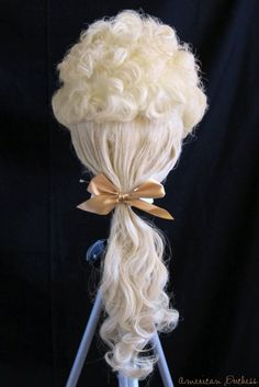 """How To Make an 18th Century Wig from an Affordable """"Costume"""" Wig"""