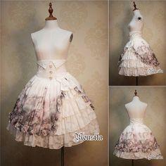 Roses Garden High-Waist Skirt (2016) by Mousita Lolita