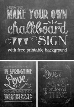 Make your own Chalkboard Printables - Yellow Bliss Road