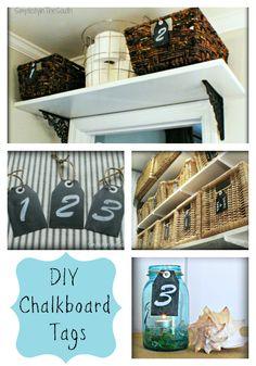 DIY chalkboard tags