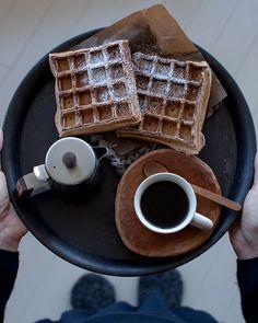 Coffee and Waffles | Cafe Noma, Yokohama, Japan