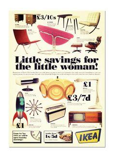 Print - vintage ikea ad