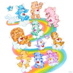 image Cousins, Care Bear Tattoos, Care Bears Vintage, Care Bear Party, Cartoon Tattoos, Rainbow Brite, Vintage Cartoon, Bear Art, 90s Kids