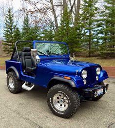 A thing of beauty! Blue Jeep Wrangler, Cj Jeep, Jeep Cj7, Jeep Wrangler Unlimited, Jeep Truck, Pickup Trucks, Jeep Srt8, Wrangler Sahara, Cool Jeeps