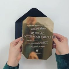[VIDEO] #CeciDesignoftheWeek For a spectacular gilded celebration, gold mirror anyone? Watch the video to see it shine.  #cecinewyork #thececiexperience #custominvitations #luxuryinvitations #geometric #deco #monogram #beautifyyourworld #cecicouture // event planned and designed by @laurenchitwood @laurenchitwoodevents