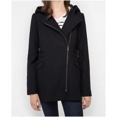 Manteau femme en laine Vamel - Noir | Comptoir des Cotonniers