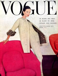 Anne St. Marie in Jeanne Lanvin, French Vogue May 1955, cover by Henry Clarke