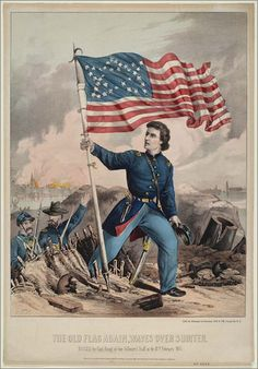 """""""The Old Flag Again Waves Over Fort Sumter."""""""
