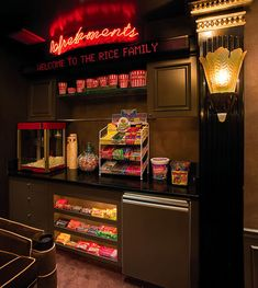 Home theater concession stand...