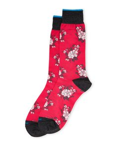 Duchamp Floral Bouquet Crew Socks