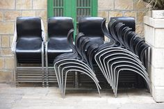Chairs used for prayers in the Cave of the Patriarchs, Hebron.