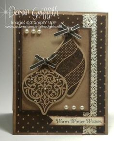 Warm Winter Wishes ... (Dawns stamping thoughts Stampin'Up! Demonstrator Stamping Videos Stamp Workshop Classes Scissor Charms Paper Crafts)